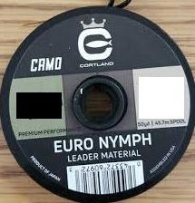 Cortland CORTLAND EURO NYMPH LEADER CAMO MATERIAL NYLON 12 LB