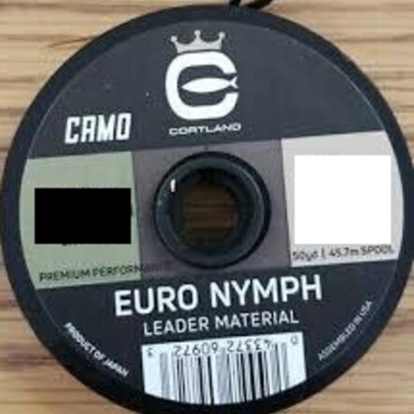 Cortland Euro Nymph Leader Camo Nylon  -   8 LB