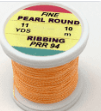 Hends Hends Body Material Fine Pearl Round Ribbing PRR 94 Fluorescent Orange Pearl