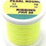 Hends Fine Pearl Round Ribbing PRR 99 Fluorescent Yellow Pearl