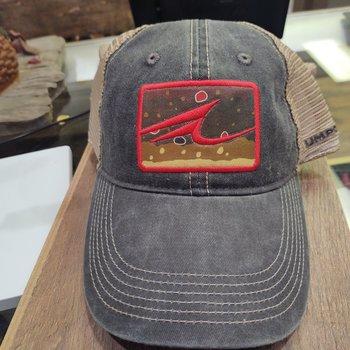 UMPQUA Legend Vintage Washed Trucker Cap - Charcoal/Khaki