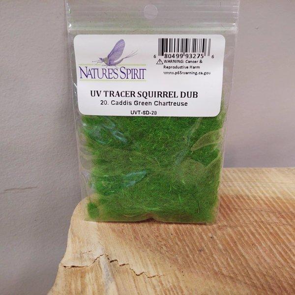 Natures Spirit NATURES SPIRIT -  UV TRACER SQUIRREL DUBBING - Caddis Green Chartreuse