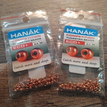 Hanak Tungsten Beads, Eco+ Copper, 2.3 mm, 50 pcs
