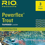 RIO POWERFLEX KNOTLESS 9FT 5X LEADERS 3 PACK