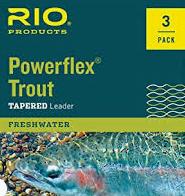 RIO POWERFLEX KNOTLESS 9FT 5X LEADERS 3 PACK