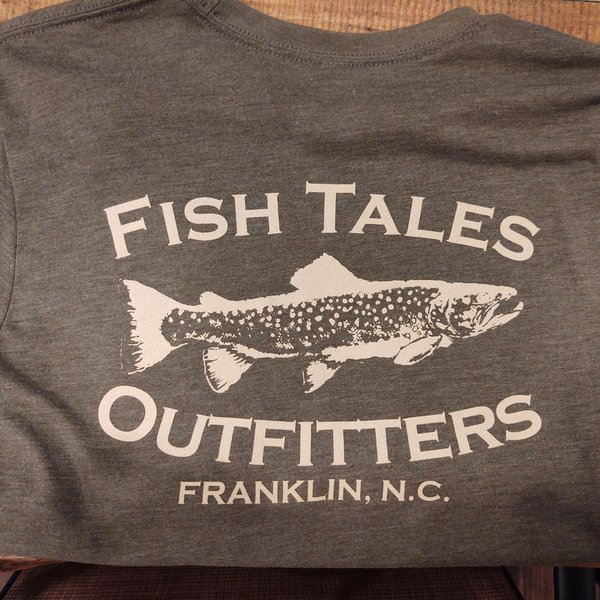Fish Tales Fish Tales T-Shirt - Short Sleeve  - Front and Back Logo - Green