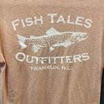 Fish Tales Fish Tales Shirt - Short Sleeve  - Front and Back Logo - Salmon