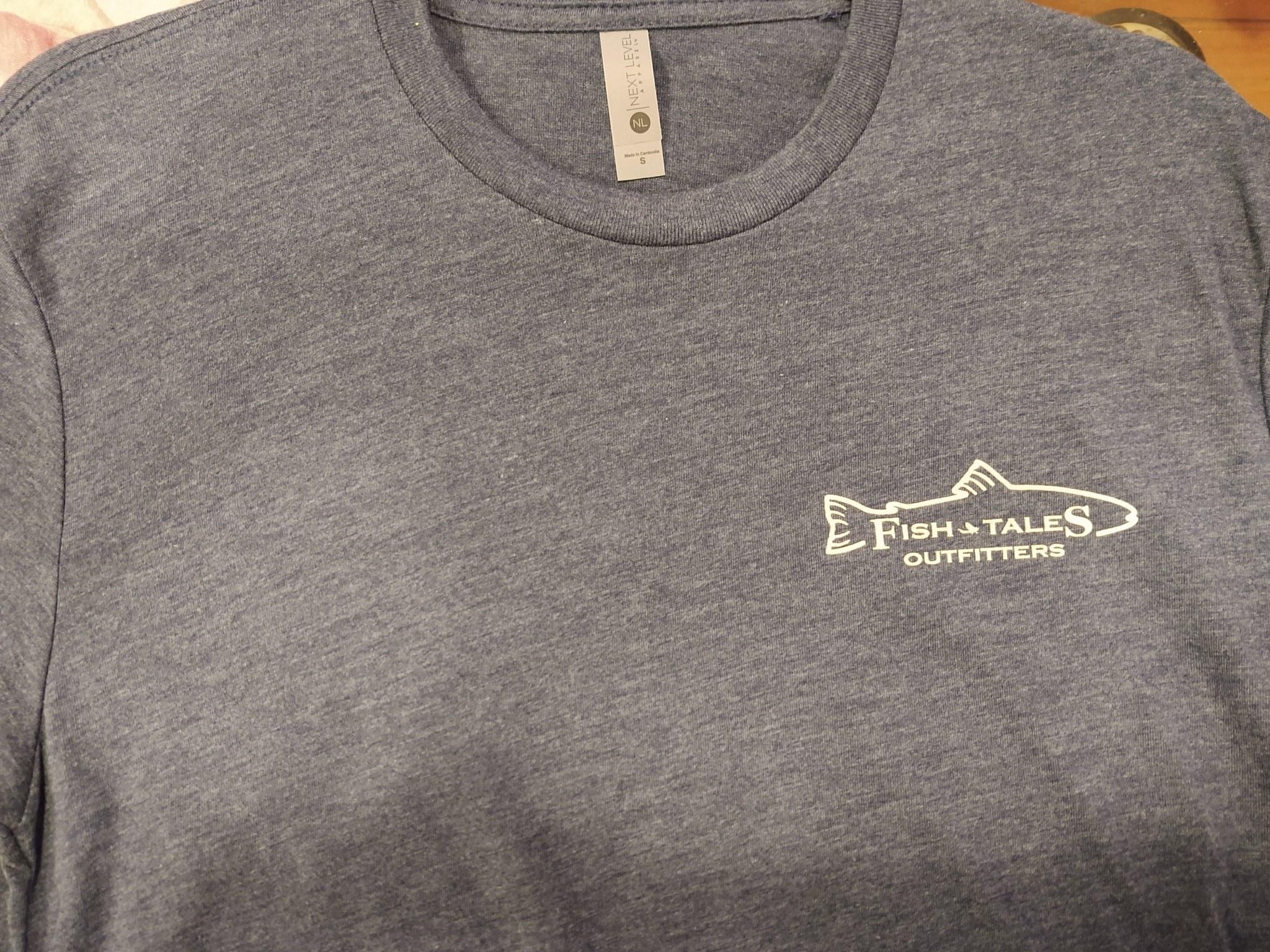 Fish Tales Fish Tales Shirt - Short Sleeve  - Front and Back Logo - Indigo