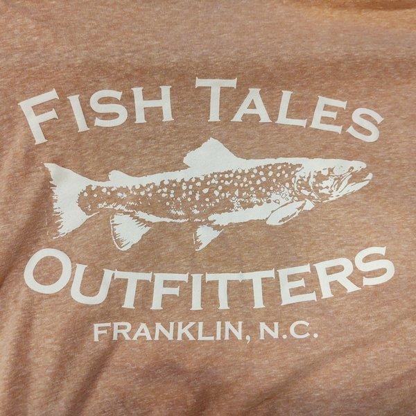 Fish Tales Fish Tales Shirt - Short Sleeve  - Front and Back Logo - Brown