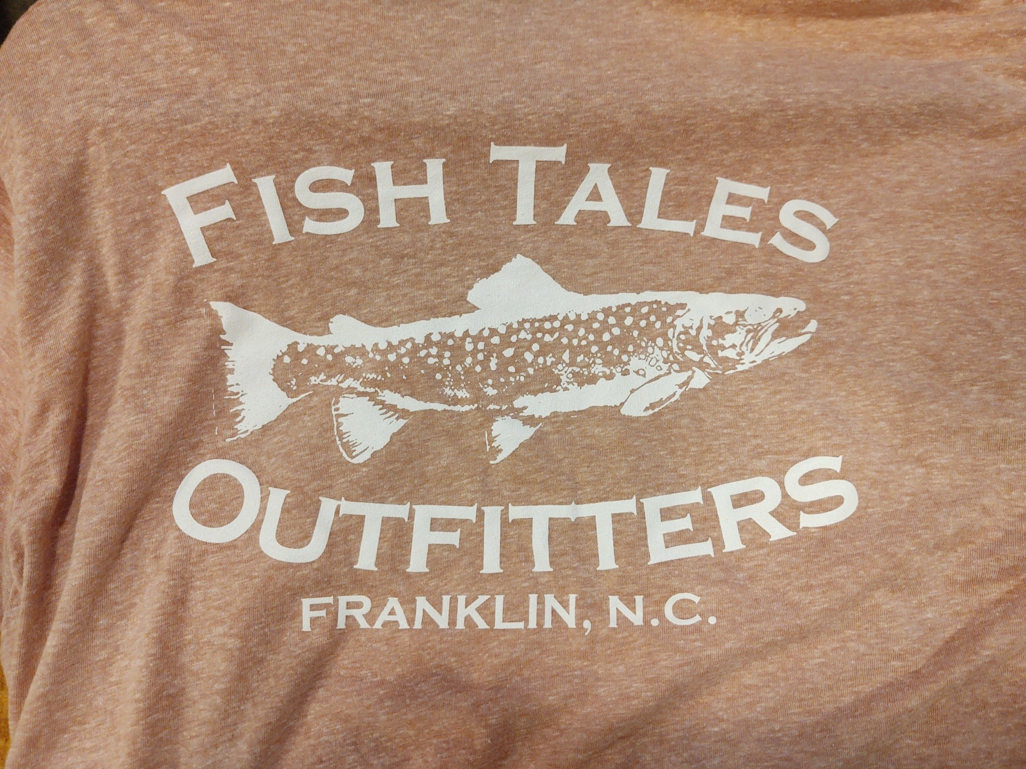 Fish Tales Fish Tales Shirt - Short Sleeve  - Front and Back Logo - Brown