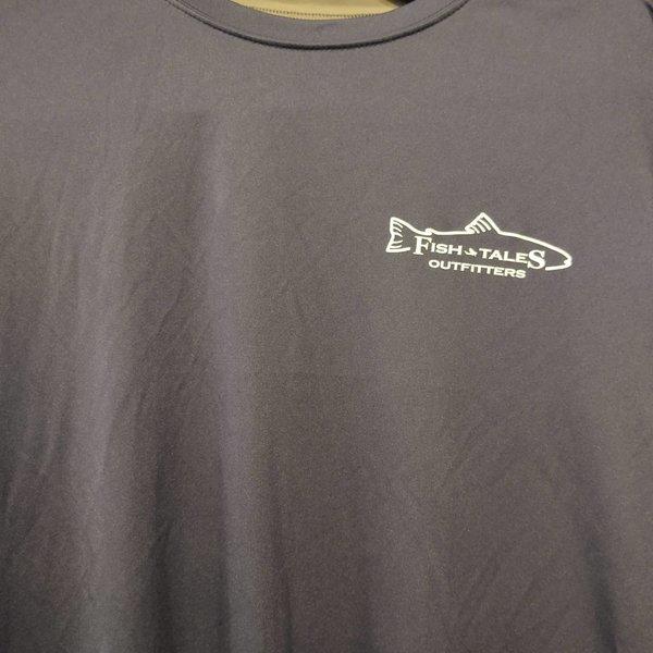 Fish Tales Fish Tales Shirt - Long Sleeve  - Front Logo - Blue