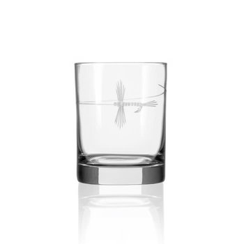 Rolf Glass Fly Fishing Double Old Fashioned Glass 14 oz  -1  Glass