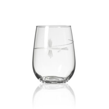 Rolf Glass Fly Fishing Stemless Wine Glass 17oz  -1  Glass