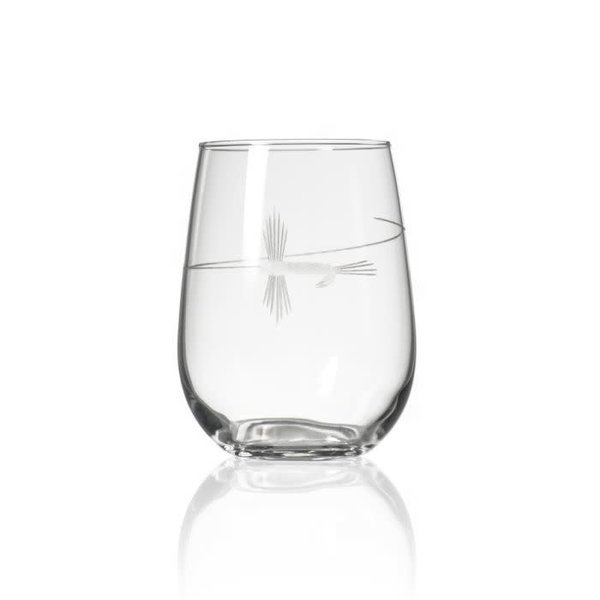 Rolf Glass Fly Fishing Stemless Wine Glass 17oz  -1  Glass