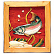 Black Forest Decor River Rock Trout Wood Wall Art