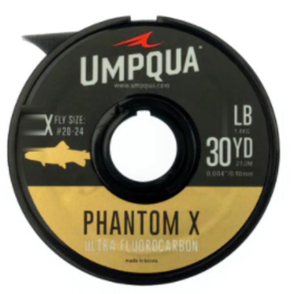 UMPQUA UMPQUA - PHANTOM X FLUOROCARBON TIPPET (30YDS) - 4X