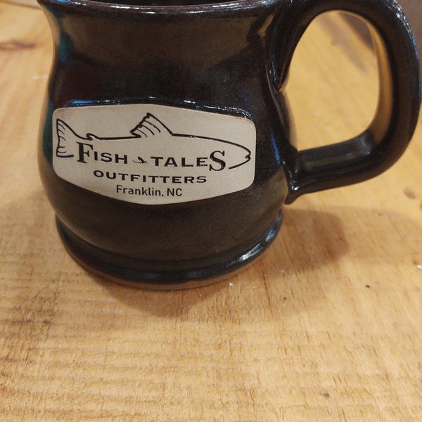 Sunset Hill Handcrafted Potbelly Mug with Logo - Brown