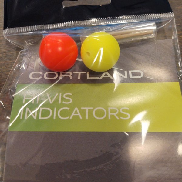 Cortland CORTLAND HI-VIS LARGE ROUND STRIKE INDICATORS 2  PACK