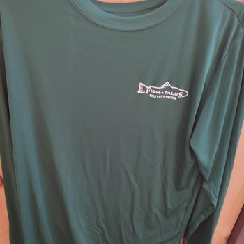 Fish Tales Fish Tales Shirt - Long Sleeve  - Front Logo - Green