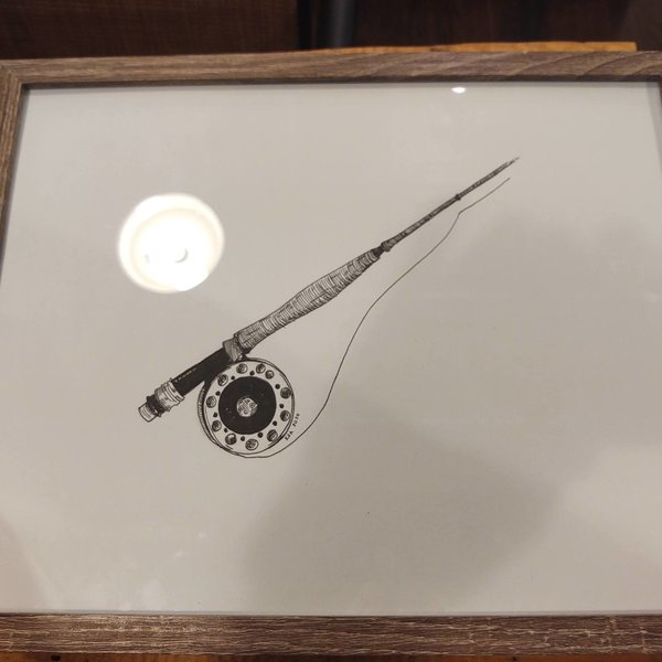 Ink Drawing Fly Rod - Albers