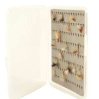 South Fork/New Phase MEDIUM SLIMP FLY BOX WITH TEAR DROP FOAM 5 X 3.5 X 1/2