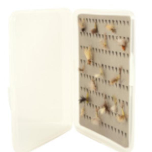 South Fork/New Phase MEDIUM SLIM FLY BOX WITH TEAR DROP FOAM 5 X 3.5 X 1/2