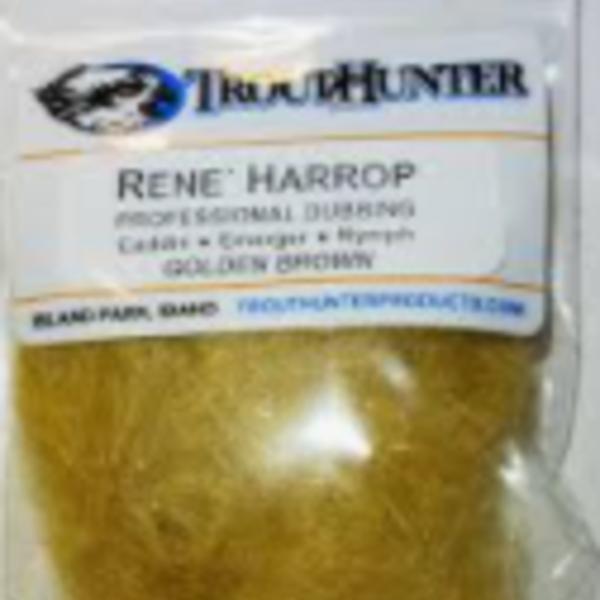 TROUTHUNTER TROUTHUNTER RENE HARROP DUBBING - GOLDEN BROWN