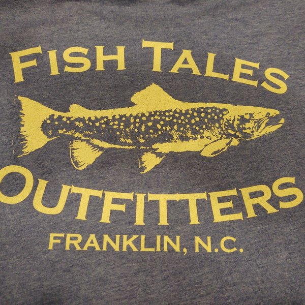 Fish Tales Fish Tales Shirt - Long Sleeve  - Slant Logo - Front/back Heather Blue