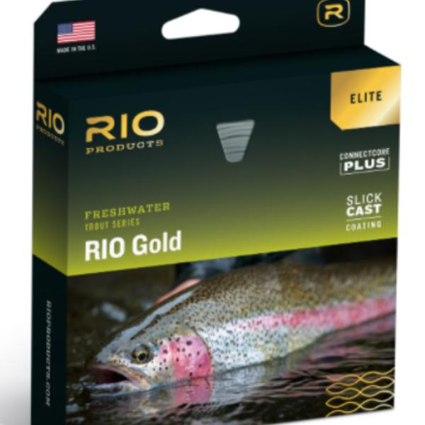RIO RIO Gold ELITE Slick Cast WF5F MOSS/GOLD/GRAY