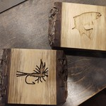 TROUT AND FLY COASTERS LIVE EDGE
