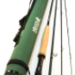 """MAXXON Outfitters GORGE  Fly Rod - 8'6"""" - 4WT, Half Wells, 4pc, Green with Tube"""