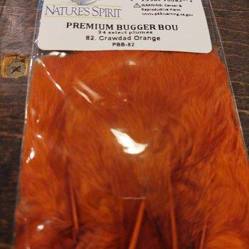Natures Spirit PREMIUM BUGGER BOU-24 select plumes -Crawdad Orange