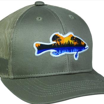 Outdoor Cap Outdoor Cap Fish Logo with scene