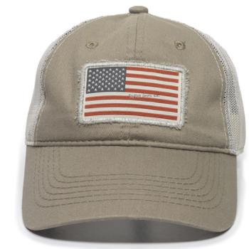 Outdoor Cap Outdoor Cap  Brown/Tan American Flag
