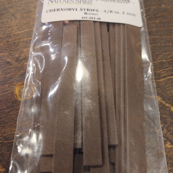 CHERNOBYL FOAM STRIPS 3/8 INCH WIDTH 2 MM THICKNESS - BROWN