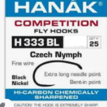 Hanak Hanak Hooks, Model 333 BL  Sz 12, 25 pk