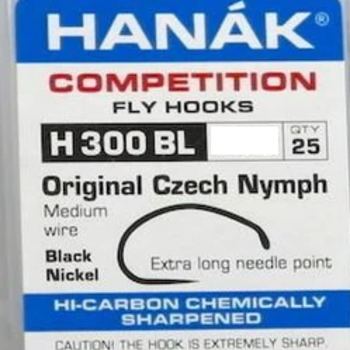 Hanak Hanak Hooks, Model300 BL  Sz 16  25 pk