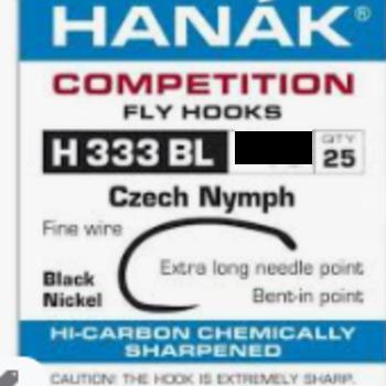 Hanak HANAK HOOKS H 333 BL SZ 10 -  QTY 25