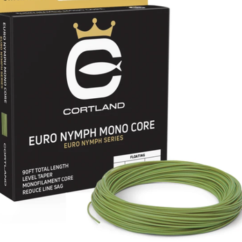 Cortland EURO NYMPH  MONO CORE P- DOUBLE TAPER - LEVEL-  .017 LEVEL GECKO  GREEN 90'