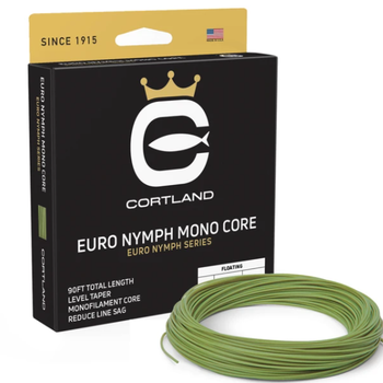 Cortland EURO NYMPH  MONO CORE (LEVEL) .017 LEVEL GECKO  GREEN 90'