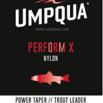 UMPQUA UMPQUA - PERFORM X POWER TAPER TROUT LEADER 9' - 4X