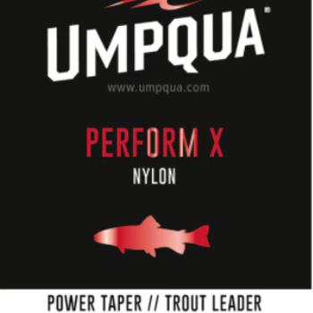 UMPQUA PERFORM X POWER TAPER TROUT LEADER 9' - 4X