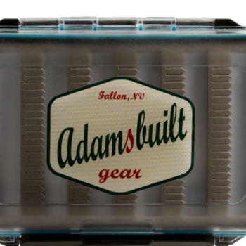 Adamsbuilt FLY BOX, CLEAR DOUBLE SIDED - SMALL, DRY AND NYMPH FOAM
