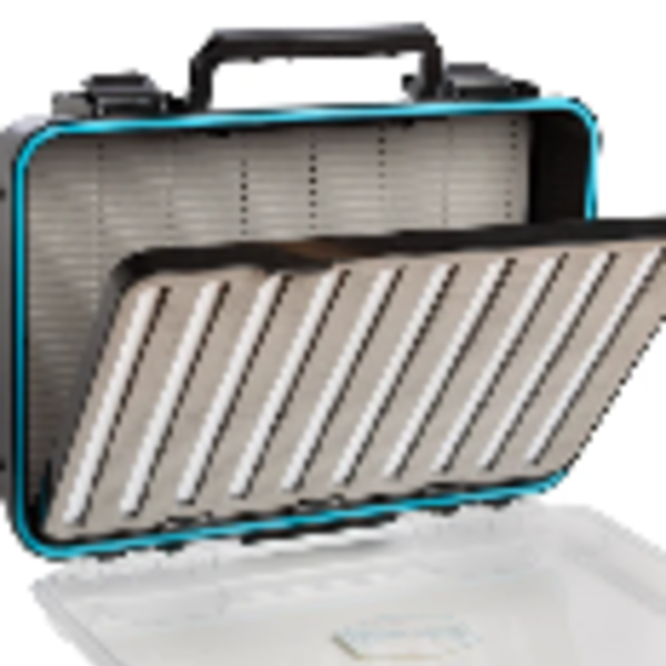 Adamsbuilt FLY BOX  SINGLE SIDD TRAVEL BOX WITH REMOVEABLE PAGE  HOLDS 1000 FLIES