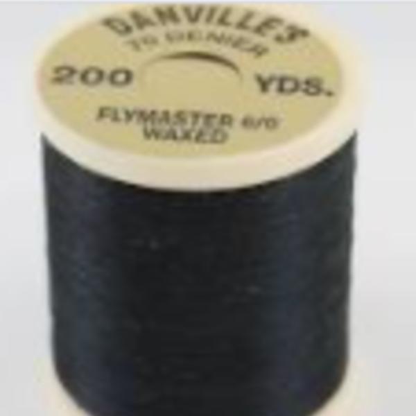 DANVILLE'S DANVILLES 70 DENIER 200 YRDS FLYMASTER 6/0 WAXED -  BLACK