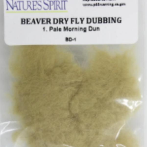 Natures Spirit BEAVER DRY FLY DUBBING PALE MORNING DUNN