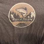 Canvas Soft Blend Fish Tales T- Shirt - Brown - Logo on Front/Back