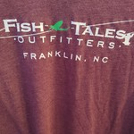 Canvas Soft Blend Fish Tales T- Shirt - Maroon - Logo on Front/Back