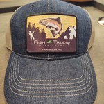 Outdoor Cap Fish Tales  Hat Denim with Square Patch