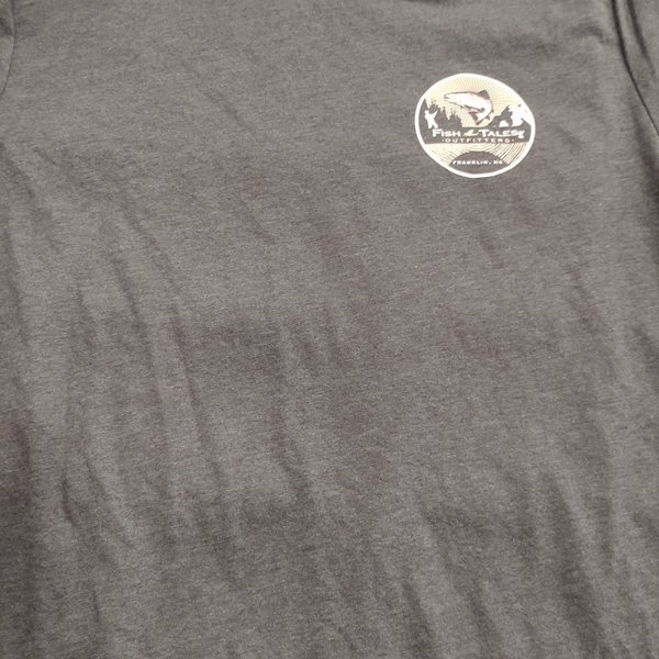 lcanvas Fish Tales T-Shirt - Green -Logo Front and Back